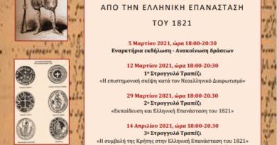 Δελτίο Τύπου: Δράσεις του ΠΕ.Κ.Ε.Σ. Κρήτης με την υποστήριξη της Π.Δ.Ε. Κρήτης, για τα 200 χρόνια από την Ελληνική Επανάσταση του 1821