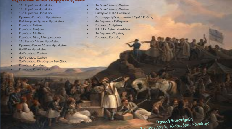 Εκδήλωση Παρουσίασης Προγραμμάτων Σχολικών Δραστηριοτήτων & Εκπαιδευτικών Δράσεων στο πλαίσιο του εορτασμού των 200 χρόνων από την Ελληνική Επανάσταση του 1821